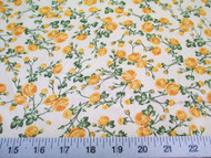 Discount Fabric Cotton Apparel Yellow Rose Floral 406K