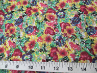 Discount Fabric Cotton Apparel Bold Multi Colored Floral 408K