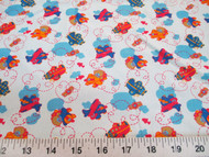 Discount Fabric Cotton Apparel Teddy Bear Airplanes Blue 303K