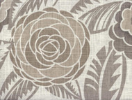 Discount Fabric Richloom Upholstery Drapery Linen Havana Greystone Floral 31LL