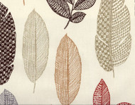 Discount Fabric Richloom Upholstery Drapery Rynell Sierra Earthtone Leaves 42LL