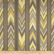 Discount Fabric Richloom Upholstery Drapery Marbella Smoke Aztec Chevron 25MM