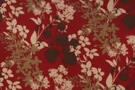 Discount Fabric Richloom Solarium Indoor Outdoor Montefleur Sangria Floral 20NN