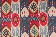 Discount Fabric Richloom Upholstery Drapery Linen Kachina Berry Ikat Tribal 22NN