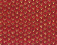 Discount Fabric Richloom Upholstery Drapery Radar Red Abstract Sunset 24NN
