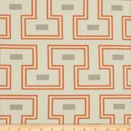 Discount Fabric Richloom Upholstery Drapery Orson Tangerine Geometric 35NN