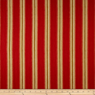 Discount Fabric Richloom Upholstery Drapery Sateen Slim Indiar Red Stripe 22OO