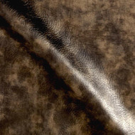 Fabric Richloom Tough Faux Leather Pleather Vinyl Jetstream Patina Metallic 31OO
