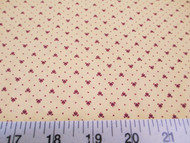 Discount Fabric Quilting Cotton Keepsake Calico Burgundy Heart 12T
