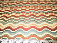 Discount Fabric Upholstery Drapery Multi Colored Jacquard Waves 12DD