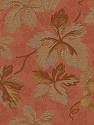 Fabric Robert Allen Beacon Hill Ivy Arbor Dark Apricot Silk Floral Drapery 31HH