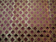 Fabric Robert Allen Beacon Hill Lattice Sheen Madeira Burgundy Silk Drapery 14*J