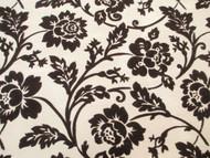 Fabric Robert Allen Beacon Hill Bijoux Floral Sable Brown Flocked Drapery 11JJ
