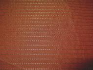 Fabric Robert Allen Beacon Hill Silk Jaspe Terracotta Silk Stripe Drapery 41JJ