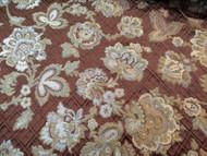 Fabric Robert Allen Beacon Hill Mademoiselle Mink Embroiered Silk Floral 22II
