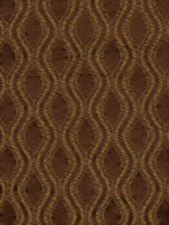 Fabric Robert Allen Beacon Hill Ovalos Umber Brown Silk Upholstery Drapery 24HH