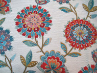 Fabric Richloom Upholstery Drapery Periwinkle Jewel Chenille Floral 41GG