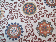 Fabric Richloom Upholstery Drapery Alango Rustic Jacquard Tapestry Floral 22GG