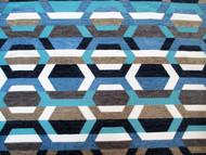 Discount Fabric Richloom Upholstery Drapery Crosby Indigo Yarn Dye Chenille 41FF