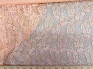 Discount Fabric Lace intricate Salmon Pink 3LC