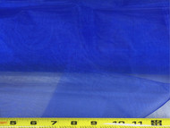 Discount Fabric Crystal Organza Sheer Blue 73OR