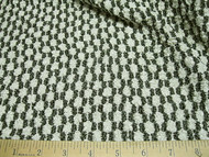 Discount Fabric Stretch Mesh Black and White Pucker Lace  62 ' wide 327LC