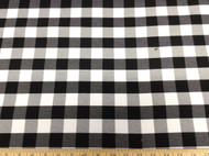 Discount Fabric 58 inch wide Drapery Black and White Check 23DR