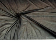 Discount Fabric Stretch Voile Black 108 inch Sheer VO301