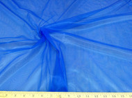 Discount Fabric Stretch Voile Blue 108 inch Sheer 302VO