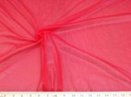 Discount Fabric Stretch Voile Red 108 inch Sheer 303VO
