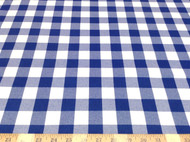 Discount Fabric Drapery Blue and White Check 25DR
