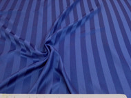 Discount Fabric Upholstery Drapery Brocade Satin Stripe Dark Blue 28DR