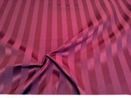 Discount Fabric Upholstery Drapery Brocade Satin Stripe Burgundy 29DR