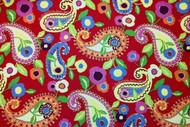 Discount Fabric Richloom Upholstery Drapery Marisol Cadmium Red Paisley 101RL