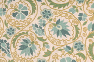 Discount Fabric Richloom Upholstery Drapery Marakesh Mineral Green Floral 102RL