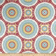 Discount Fabric Richloom Upholstery Drapery Olympus Mulit Color Medallion 107RL