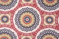 Discount Fabric Richloom Upholstery Drapery Olympus Jewel Navy Medallion 108RL