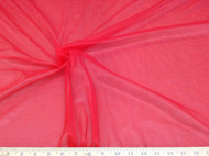 Discount Fabric nylon Tricot Red 15 denier Lustre SheerTM PAY306