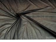 Discount Fabric nylon Tricot Black 15 denier Lustre SheerTM PAY307