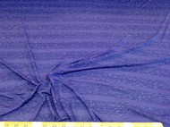 Discount Fabric Brushed Spandex 4 way stretch Heather Periwinkle Stripe 601LY