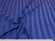 Discount Tablecloth Fabric Brocade Satin Stripe Dark Blue 28DR