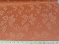 Discount Tablecloth Fabric Jacquard Floral Terracotta 08DR