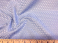 Discount Tablecloth Fabric Jacquard Check Light Blue 07DR