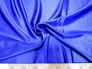 Discount Fabric 4 way Stretch Satin Royal Blue 15NL