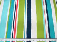 Discount Fabric Robert Allen Outdoor Upholstery Baja Stripe EM Turquoise 01RA