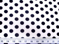 Discount Fabric Printed Lycra Spandex Stretch White with Black Polka Dots 201H