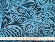 Discount Fabric Printed Lycra Spandex Stretch Abstract Zebra Turquoise 200E