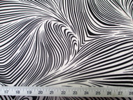 Discount Fabric Printed Lycra Spandex Stretch Abstract Zebra Black White 201F