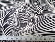 Discount Fabric Printed Lycra Spandex Stretch Abstract Zebra Black White 201F
