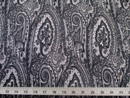 Discount Fabric Printed Lycra Spandex Stretch Paisley Grey, Black & White 200D